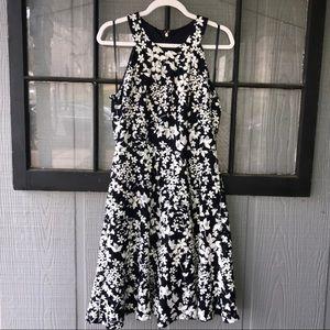 Tommy Hilfiger halter dress, navy and white floral